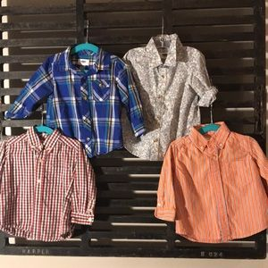 Boys button up shirts.